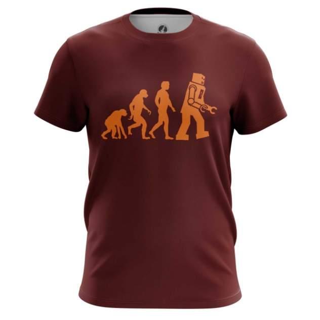 Футболка мужская teestore Evolution бордовая 3XL