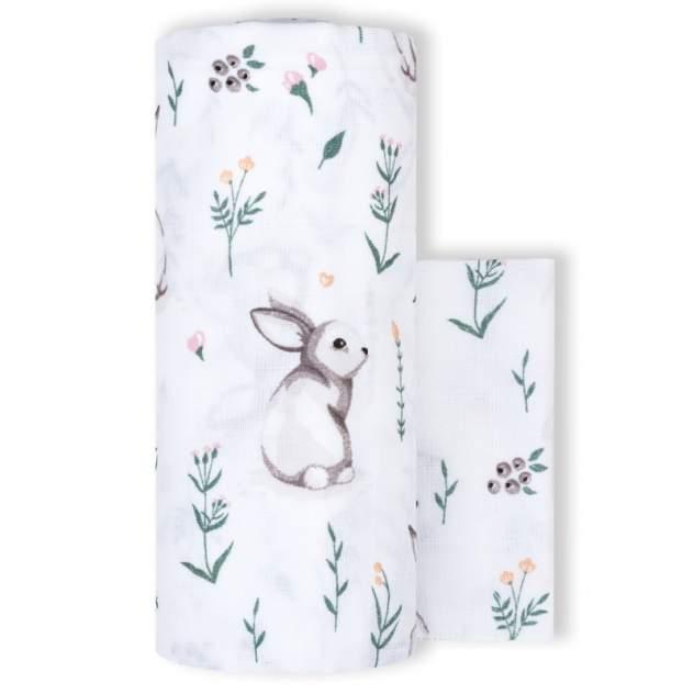 Пеленка детская loombee для новорожденных (118х118 см) и салфетка (25х25 см) MS-3445