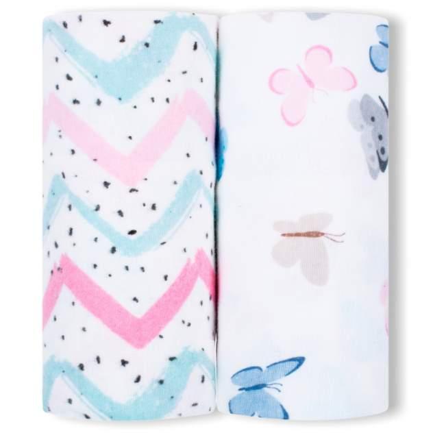 Пеленки детские loombee фланелевые для новорожденных (100x100 см, 2 шт) FS-5215