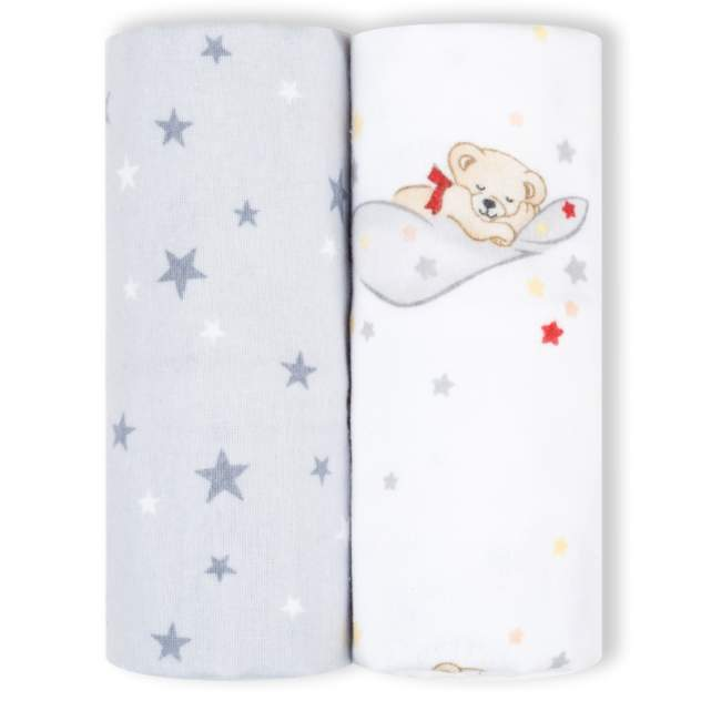 Пеленки детские loombee фланелевые для новорожденных (100x100 см, 2 шт) FS-5216