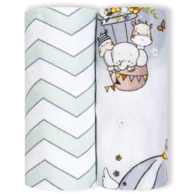 Пеленки детские loombee фланелевые для новорожденных (100x100 см, 2 шт) FS-5218