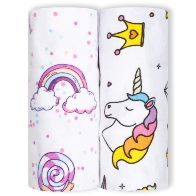 Пеленки детские loombee для новорожденных (100x100 см, 2 шт) FS-5220