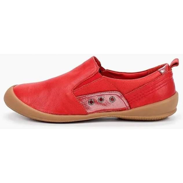 Слипоны женские, Airbox 137556, красный