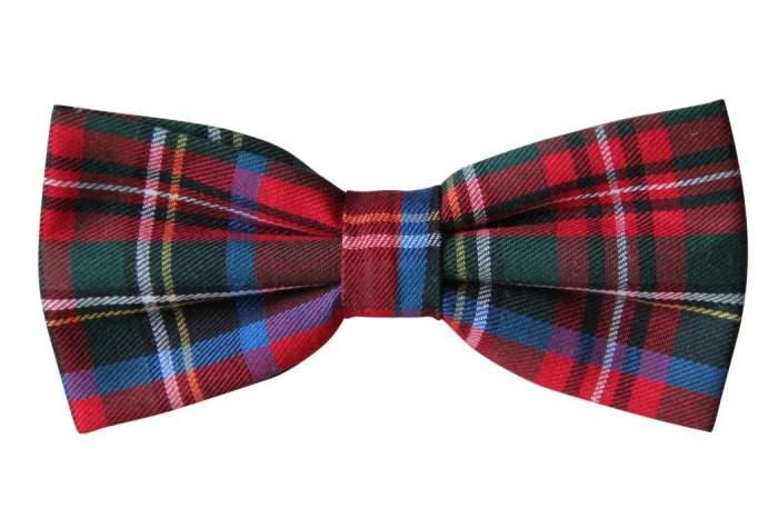 Галстук-бабочка мужской Шотландка 100020 красный
