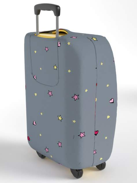 Чехол для чемодана RATEL R3_80_065WT_052_BF260U_L СЕРЫЙ, РОЗОВЫЙ, БЕЛЫЙ