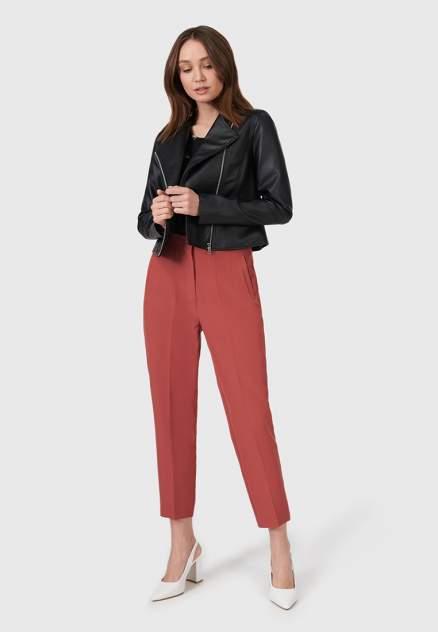Кожаная куртка женская Modis M211W00374S642F черная 44 RU