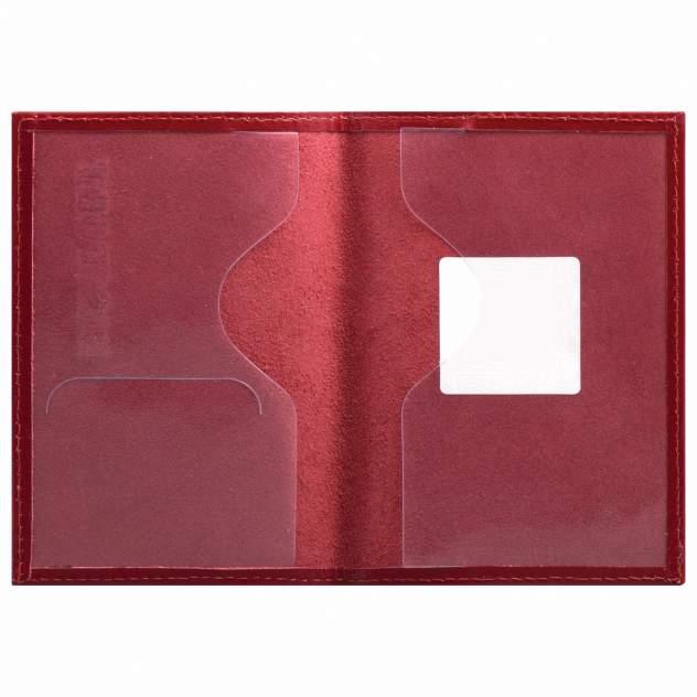 """Обложка для паспорта натуральная кожа галант, """"PASSPORT"""", красная, BRAUBERG, 237178"""