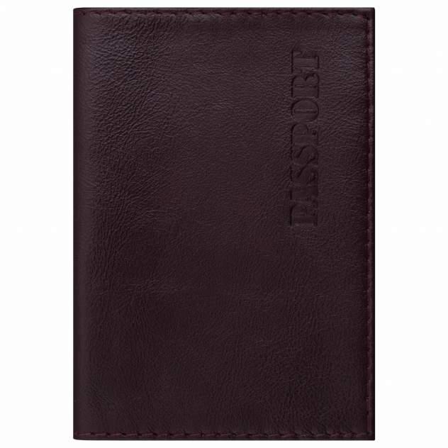 """Обложка для паспорта натуральная кожа """"Virginia"""", """"PASSPORT"""", бордовая, BRAUBERG, 237187"""