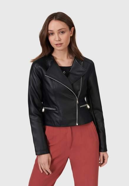 Кожаная куртка женская Modis M211W00374S642F черная 50 RU
