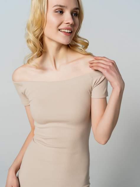 Платье-футболка женское ТВОЕ 80594 бежевое M