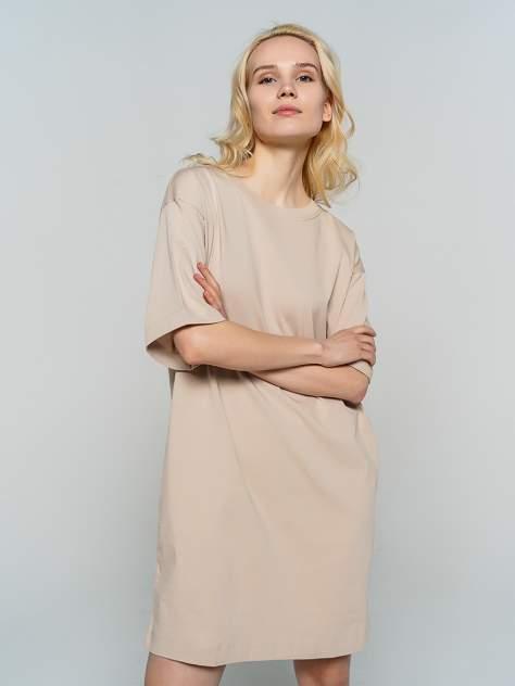 Платье-футболка женское ТВОЕ 80599 бежевое XS