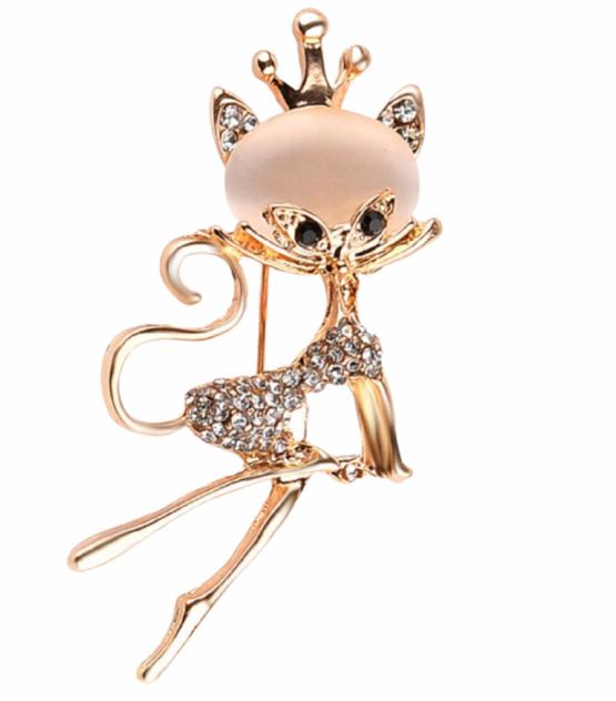 Брошь из бижутерного сплава со стеклом Fashion Jewelry 2581