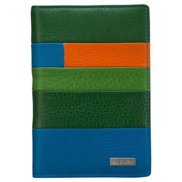 Обложка для паспорта Dr.Koffer X510130-192 зеленая