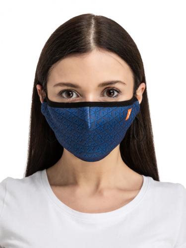 Многоразовая маска унисекс Routemark Spiro Magnet синяя
