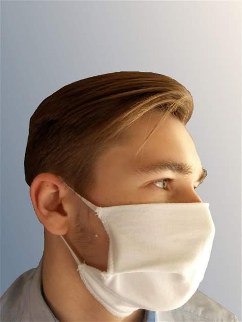 Многоразовая маска TELMI не медицинская, защитная (кулирка,  комплект 3 шт) белая