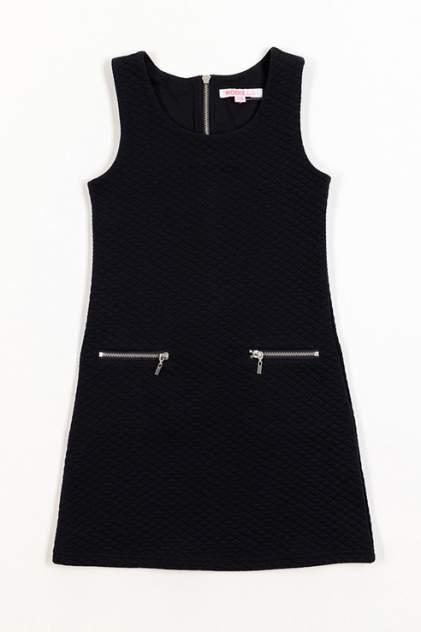 Платье MODIS для девочек, цв. черный, р-р 140