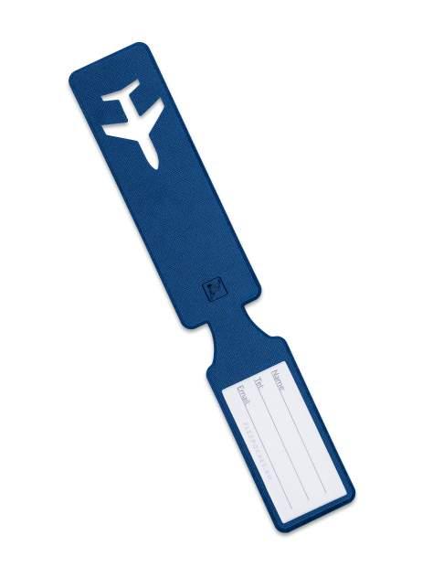 Багажная бирка начемодан / Бирка для багажа исумок всамолет Flexpocket синяя