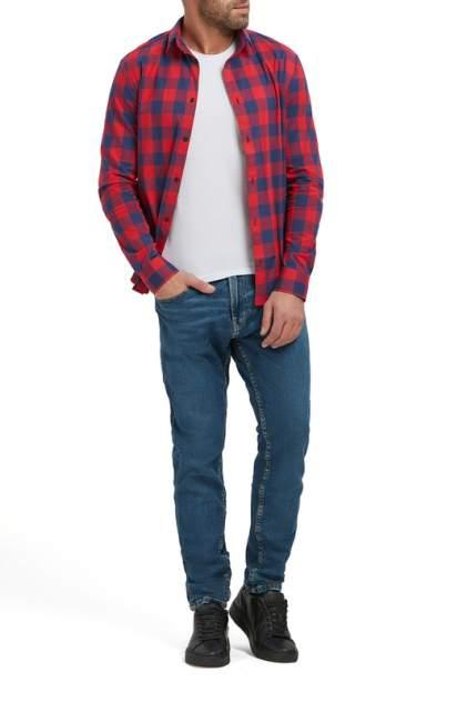 Рубашка мужская Envy Lab R44/синяя-КРАСНая красная 2XL