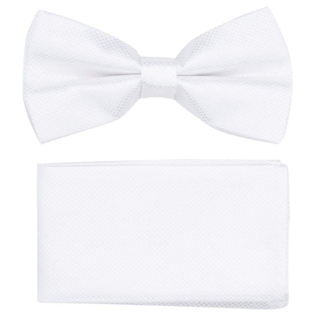 Галстук-бабочка + нагрудный платок мужской OTOKODESIGN белый 53723