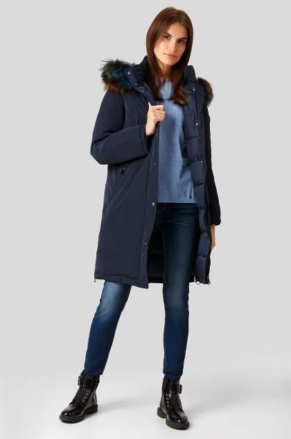 Пуховик-пальто женский Finn Flare W18-12039 синий 2XL