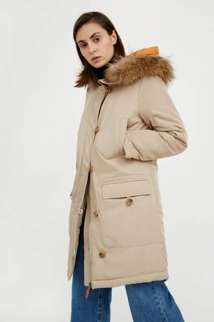 Пуховик-пальто женский Finn Flare A20-12020 бежевый L