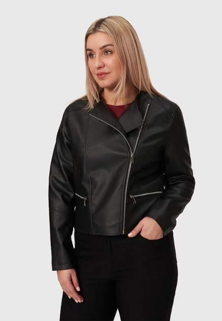 Кожаная куртка женская Modis M211W00401S642F черная 4XL