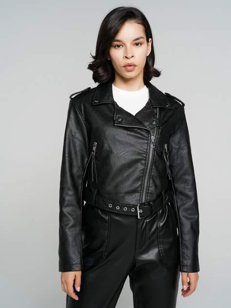 Кожаная куртка женская ТВОЕ A6591 черная XS