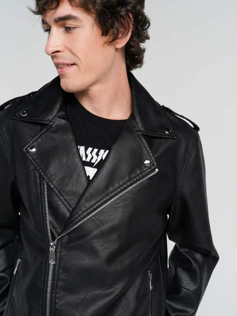 Кожаная куртка мужская ТВОЕ A6614 черная XXL
