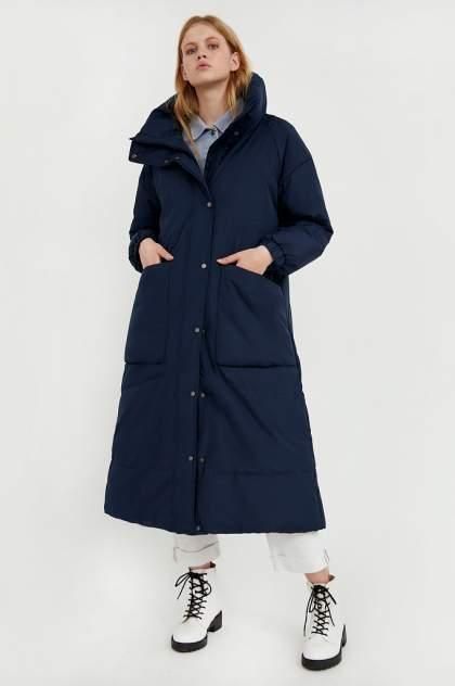 Пуховик-пальто женский Finn Flare A20-11078 синий XL