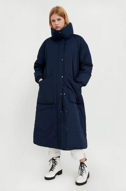 Пуховик-пальто женский Finn Flare A20-11078 синий M