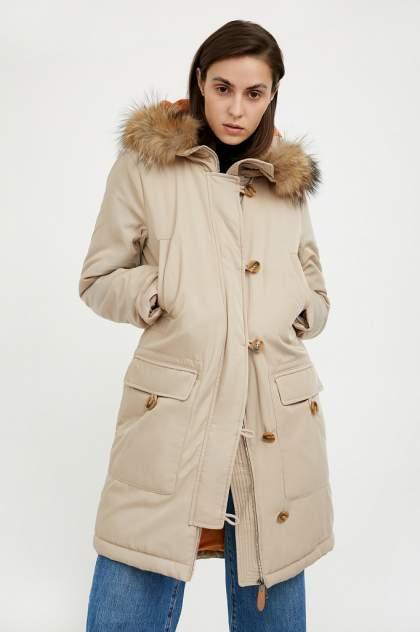 Пуховик-пальто женский Finn Flare A20-12020 бежевый S