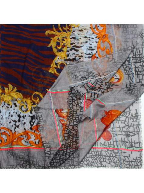 Платок женский Venera 3000267 бордово-серый, 140х140 см