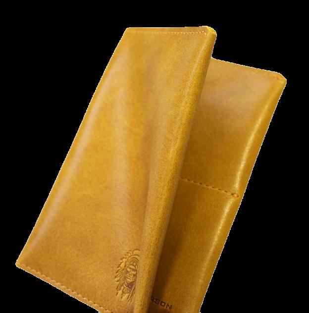 Обложка для паспорта Apache ОП-2-A табачно-желтая