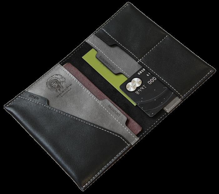 Обложка для паспорта Apache ОП-L черная