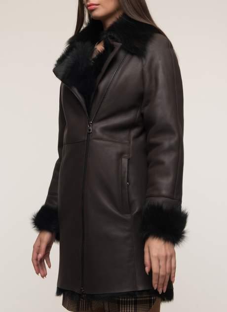 Дубленка женская Каляев 1451613 коричневая 46 RU