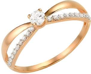Кольцо женское Сорокин 70100400 р.17.5