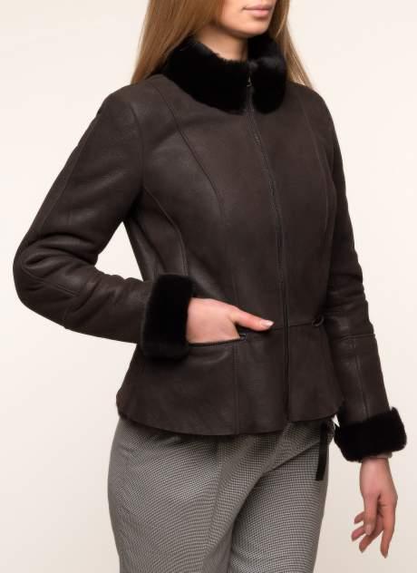Дубленка женская Каляев 1484699 коричневая 46 RU