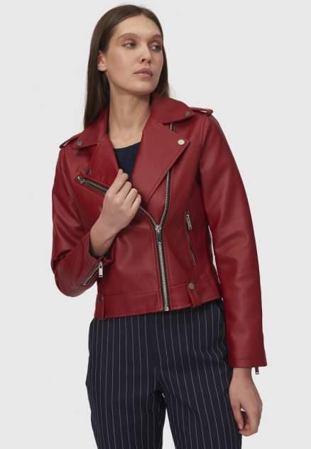 Кожаная куртка женская Modis M211W00327Z781F бордовая 46 RU