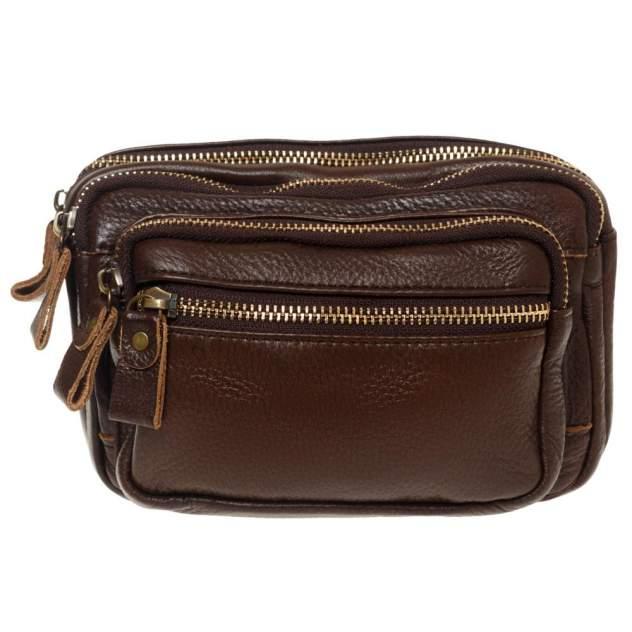 Поясная сумка мужская Gsmin GL1 коричневая