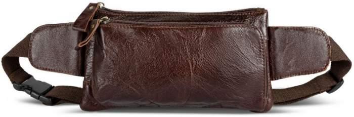 Поясная сумка мужская Gsmin GL34 коричневая