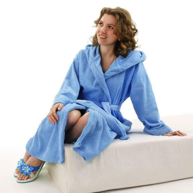 Домашний халат женский Wellness Релакс, голубой