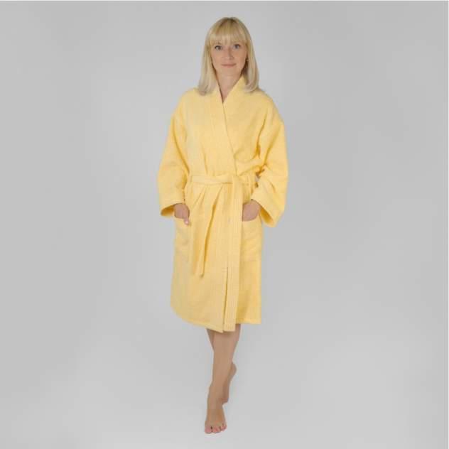 Домашний халат женский Wellness Алина, желтый