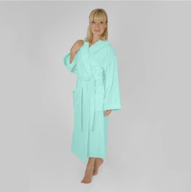 Домашний халат женский Wellness Элеганс, голубой