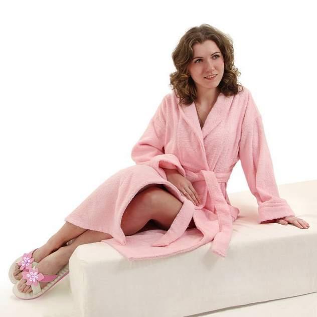Домашний халат женский Wellness Элеганс, розовый