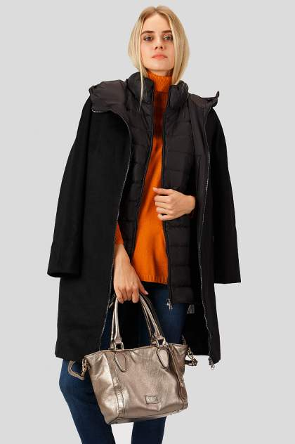 Пуховик-пальто женский Finn Flare A18-12022 черный S
