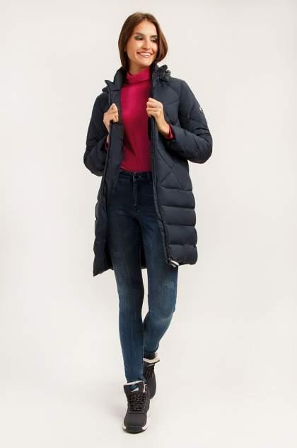 Пуховик-пальто женский Finn Flare A19-11026 синий XS