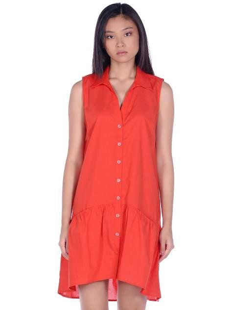 Платье-рубашка женское Modis M201W01294 красное 42