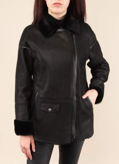 Дубленка женская Каляев 1557167 черная 50 RU
