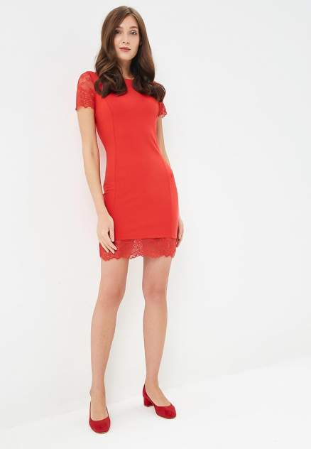Повседневное платье женское Modis M191W00186 красное 44
