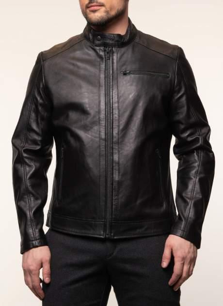 Мужская кожаная куртка Каляев 1561024, черный